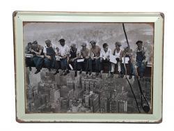 Διακοσμητική Μεταλλική Πινακίδα Εργάτες 40x30 95245