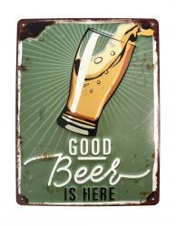 Διακοσμητική Μεταλλική Πινακίδα Good Beer 41-19121