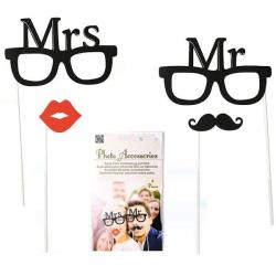 Photo Accessories Mr & Mrs 4pcs 181065