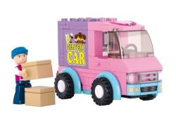 SLUBAN Τουβλάκια Girls Dream, Delivery Van M38-B0520, 102τμχ