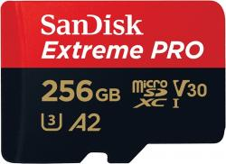 SanDisk SDSQXCZ-256G-GN6MA Extreme Pro microSDXC 256GB + SD Adapter 170MB/s A2 C10 V30 UHS-I U3 532792