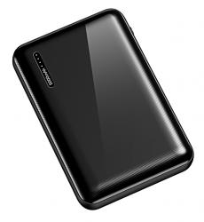 USAMS power bank PB39 5000mAh, slim, 2x output, 2A, μαύρο 5KCD10401