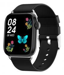 """ΙΝΤΙΜΕ smartwatch P16, 1.69"""" έγχρωμο, IP67, HR & Blood pressure, μαύρο INTIME IT-038"""