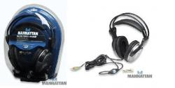 Deluxe Stereo Headset In-Line Volume Control MANHATTAN MN-7931