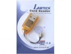 Lamtech Micro SD Card Reader Πορτοκαλί LAM050059