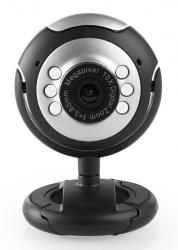 Web Camera CAM01, 0.3MP, 30fps, Plug & Play, μαύρη UNBRANDED